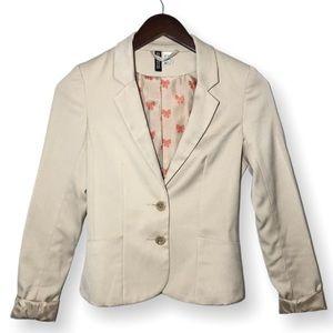 Divided H&M Cream Tan Blazer Size 2